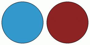 Color Scheme with #3399CC #8E2323