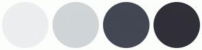Color Scheme with #ECEEEF #D0D5D8 #424753 #312F38