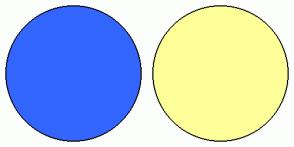 Color Scheme with #3366FF #FFFF99