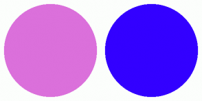 Color Scheme with #DB70DB #3300FF