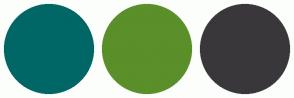 Color Scheme with #006666 #5A8F29 #3A373B