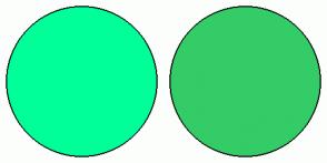 Color Scheme with #00FF99 #33CC66