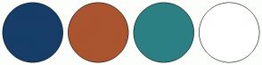Color Scheme with #163E68 #AA552F #2C8084 #FFFFFF