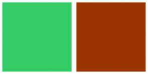 Color Scheme with #33CC66 #993300