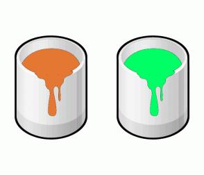 Color Scheme with #E47833 #00FF66