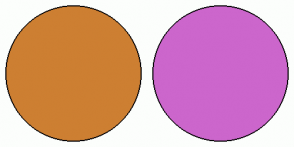 Color Scheme with #CD7F32 #CC66CC