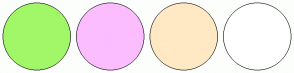Color Scheme with #A1F768 #FCBDFF #FFE8C4 #FFFFFF