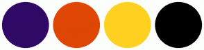 Color Scheme with #2F0965 #DF4703 #FFD120 #000000