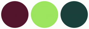 Color Scheme with #52152B #9CE55E #1B403B