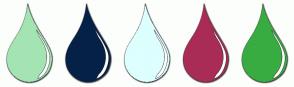Color Scheme with #A4E4B3 #052147 #DDFFFE #A92C56 #38AC41