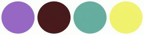 Color Scheme with #9668C4 #471B1B #66AE9F #F1F26E