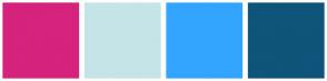 Color Scheme with #D6237D #C5E4E8 #33A5FF #0F547A