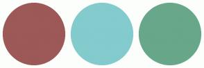 Color Scheme with #9D5858 #83CBCD #68A789