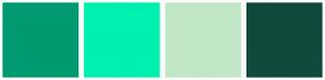 Color Scheme with #009A71 #00F0B0 #C1E7C7 #10493D