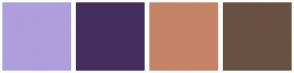 Color Scheme with #AE9EDB #442E5E #C58467 #695141