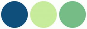 Color Scheme with #0F4F7C #C7EC9B #75BD87