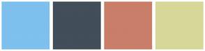 Color Scheme with #7EC0EE #424E5A #C97E69 #D7D898