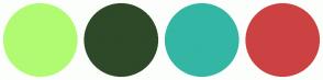 Color Scheme with #B1FB73 #2D4928 #34B6A5 #CC4242