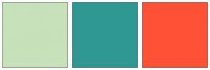 Color Scheme with #C7E1BA #309881 #FFF93A