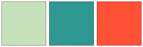 Color Scheme with #C7E1BA #309881 #FFFA36