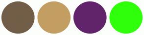 Color Scheme with #725E48 #C39E63 #61246B #2FFF0B