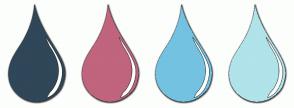 Color Scheme with #2F4758 #C1647D #74C2E1 #B0E3EA