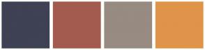 Color Scheme with #3F4154 #A35B4F #988B81 #DF944A