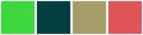 Color Scheme with #3ED83E #004040 #A59E6B #DF5555