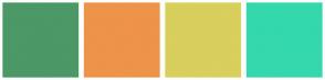 Color Scheme with #4C9866 #EE934A #D8CF5C #34D8AC