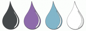 Color Scheme with #45494B #8E6BAB #82B6CA #FFFFFF