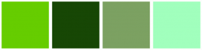Color Scheme with #66CD00 #174705 #7CA162 #A1FFBD