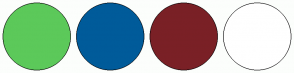 Color Scheme with #5CC95A #005B9A #7A2026 #FFFFFF