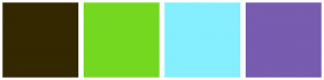 Color Scheme with #342800 #74D820 #85EFFF #775CB0
