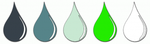 Color Scheme with #37414A #568489 #C8E8D2 #23EC00 #FFFFFF