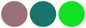 Color Scheme with #997177 #18746C #11E120