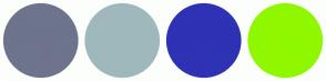 Color Scheme with #6D748C #9FB8BC #2E32B4 #8FF800