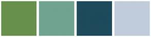 Color Scheme with #68904C #71A391 #1E4A5C #C0CCDB
