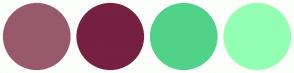 Color Scheme with #98596C #762042 #50D288 #92FFB2