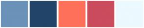Color Scheme with #6B92B8 #234469 #FF705A #CA4C5D #ECF9FF
