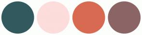 Color Scheme with #325A5E #FDDCDC #D86A52 #8B6565