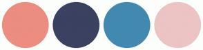 Color Scheme with #EC8D7F #3B4161 #4289B0 #ECC4C4