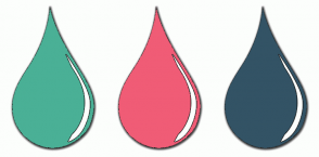 Color Scheme with #4AB096 #F05C76 #335365