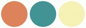 Color Scheme with #DD835B #429494 #F6F1B5