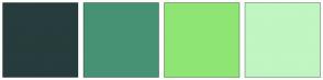 Color Scheme with #273C3C #479274 #8FE574 #C0F6C1