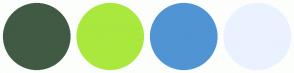 Color Scheme with #405A44 #AAE83E #5094D4 #EAF2FF