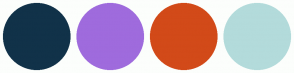 Color Scheme with #113249 #9F6BDD #D24A19 #B3DBDB
