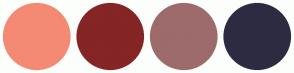 Color Scheme with #F48A73 #852525 #9D6B6B #2C2B42