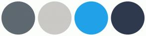 Color Scheme with #5E6970 #CAC9C5 #21A2E8 #2F394D