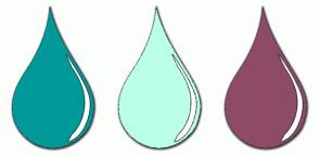 Color Scheme with #009999 #BAFFE7 #8D4B68