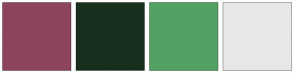 Color Scheme with #8D445E #182F1D #54A164 #E8E8E8